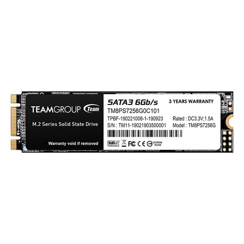 Team Group Tm8Ps7256G0C101 256Gb Team M.2-2280 Sata3 Ms30 SSD