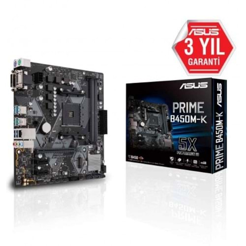 Asus Prime B450M-K Ddr4 3466Mhz Am4 Matx Anakart