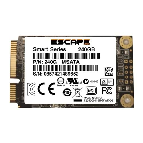 Escapelock 240 Gb Msata Ssd